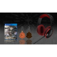 Headset Monster Hunter Limited CAPCOM Edition + Game MH R2 Japan + Keychain