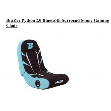 BraZen Python 2.0 Bluetooth Surround Sound Gaming Chair (Red/Blue/Grey)