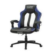Brazen Stealth 2.0 Surround Sound Bluetooth PC Gaming Chair (Black/White/Blue)