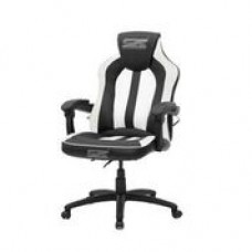 Brazen Stealth 2.0 Surround Sound Bluetooth PC Gaming Chair (Black/White)