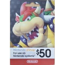 Nintendo eCard 50 USD (Fisik Card)