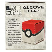 Pokemon Card Premium Leather & Magnetic Aclove Deck Box Pokeball Red&White (UltraPro)