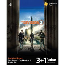PSN Plus 3+1 Month Extra Tom Clancy's The Division 2 Asia Version