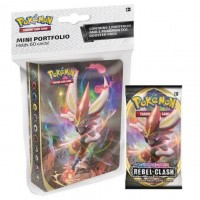 Pokemon TCG SS2 Rebel Clash Mini Portfolio + Booster Pack
