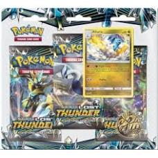 Pokemon TCG SM8 Lost Thunder (3 Blister Pack) + Pin