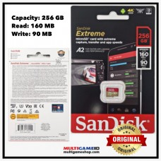 Memory Micro XC-I SanDisk A2 V30 Extreme 256GB (Speed Read 160MB, Write 90MB)