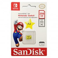 Memory Micro SanDisk 256GB Official For Nintendo Switch