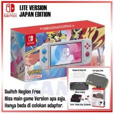Nintendo Switch Lite Zacian & Zamazenta Pokemon Sword/Shield Edition +Starter Kits Yellow