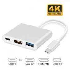 3in1 MultiPort HUB USB TypeC to 4K HDMI Dock Converter (PORT)