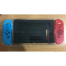 Switch Silicon Black & Silicon Joycon Blue & Red