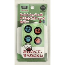 Switch V2/Lite Animal Crossing Thumb Grip Neon-Bear