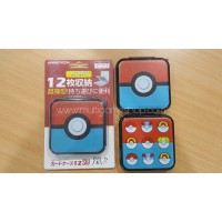 "Card Case 12 Gametech ""Pokeball"" Red/Blue"