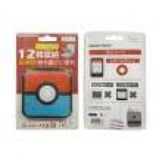 "Card Case 12 Gametech ""Pokeball"" Red/Blue Tipis"