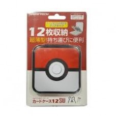 "Card Case 12 Gametech ""Pokeball"" Red/White"