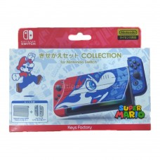 Switch Cover Clip Protector Set Super Mario Collection (Keys Factory)