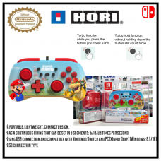 Switch HORI Pad Mini Controller Mario & Bowser (HORI)