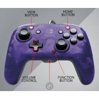Switch Wired Controller Face-off Purple Camo (pdp)