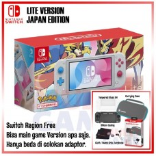 Nintendo Switch Lite Zacian & Zamazenta Pokemon Sword/Shield Edition +Starter Kits Turquoise