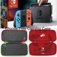 Nintendo Switch Neon Red/Blue + Case (Splatoon/Odyssey)