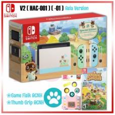 (Free Ongkir) Nintendo Switch V2 Animal Crossing Limited +Game Catridge