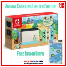 Nintendo Switch V2 (Generation 2) Animal Crossing +Everybutton Thumb Grip