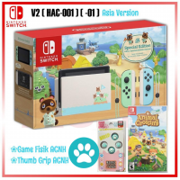 New V2 (HAC-001) (01) Nintendo Switch Animal Crossing Limited +Game Animal Crossing