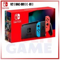 Nintendo Switch V2 (Generation 2) Neon Red/Blue