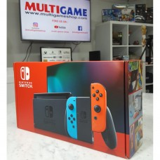 New!! Nintendo Switch Neon Red/Blue (HAC-001)(-01) +Screen Tempered Guard