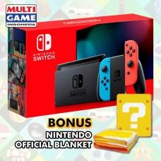 New V2 Nintendo Switch Neon Red/Blue (HAC-001)(-01) +Bonus
