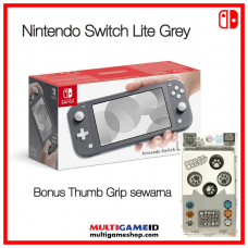 (Free Ongkir) Nintendo Switch Lite Grey +Thumb Grip