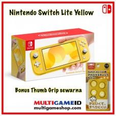 (Free Ongkir) Nintendo Switch Lite Yellow +Thumb Grip