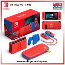 Nintendo Switch V2 (Generation 2) MARIO RED & BLUE Special Edition (Bundling)