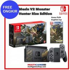 (Free Ongkir) Nintendo Switch V2 Monster Hunter Limited Edition +Catridge Game