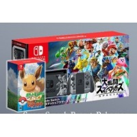 Nintendo Switch Super Smash Bros Edition + Game Super Smaah Bros + Game Pokemon Eevee + Pokeball Plus