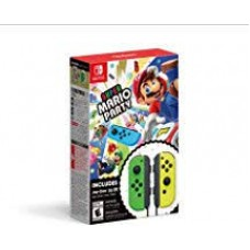 Super Mario Party +  Joycon Green/Yellow Bundle (Black Strap)