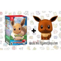 Pokemon Lets Go Eevee + Pokeball + Mini Eevee