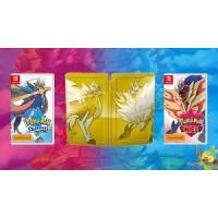 —PO2– Pokemon Sword + Shield + Gold Dual Game Cards SteelCase