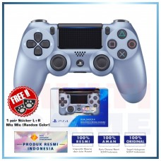 (Official) New DualShock 4 CUH-ZCT2G (Titanium Blue) Limited +Sticker Miu-Miu R/L
