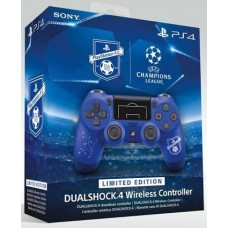 DS4 New Dual Shock 4 Light Versi 2, UEFA Champions League (Blue With Soccer Print)