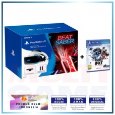 Playstation VR Versi 2 (CUH-ZVR-2) Beat Saber All In One Pack (Camera + 2pcs Move Motion + Game DLC) +Game Astro Bot