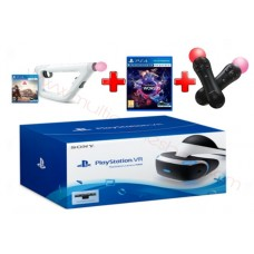 -- PO -- Playstation VR (Asia Version) + Camera + VR World Game + VR Farpoint Game + VR Aim Controller + 2pcs Motion Controller