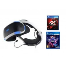 Playstation VR Versi 2 (Asia Version) Camera Bundle + VR Worlds R3 + GT Sport R3