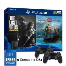 (PROMO SEPTEMBER) PS4 PRO 1TB (CUH-7218B) Jet Black Bundle 2 Game & 2 DS4 +Game Pilihan