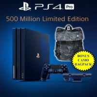 PS4 Pro 2TB ( 500 Million ) Limited Edition +Camouflage Backpack Official