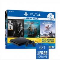 (PROMO SEPTEMBER) PS4 Slim 1TB Mega Pack (3 Games + PSN 3 Month) +Game Pilihan