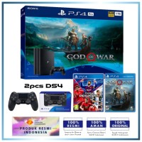 (Imlek) PS4 PRO 1TB God of War Bundle +Extra DS4 & Game PES 2020 eFootball