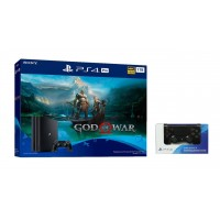 PS4 PRO 1TB (CUH-7106B) God of War Bundle Jet Black + Extra DS4 Black