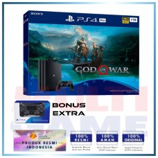 PS4 PRO 1TB (CUH-7106B) God of War Bundle Jet Black + Extra DS4 Jet Black