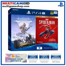 PS4 PRO 1TB Jet Black OM Bundle #2 (Marvel SpiderMan & Horizon Zero Dawn)
