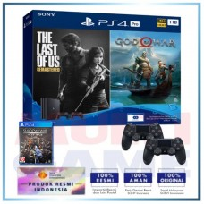 (Official) PS4 PRO 1TB Jet Black OM Bundle 2Game & 2DS4 +PS4 Shadow Of War Silver Edition